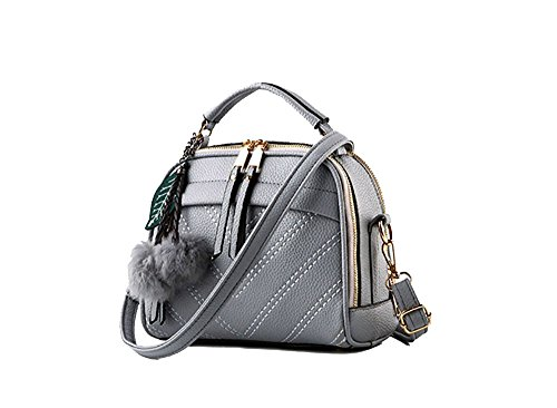 Reton Inspired black Fashion Shoulder Women Gray Bag Designer Leather Light Handbag Pu HHr6A