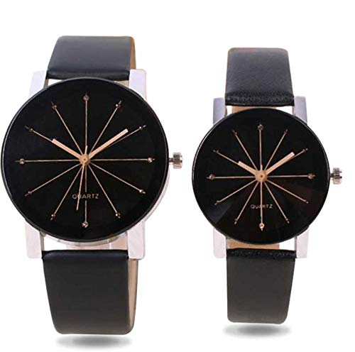 Flaunt Market Analog Couple Watches for Men and Women