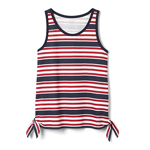 French Toast Girls' Little Side Knot Tank Top, Red, - Side Tie Top Knit