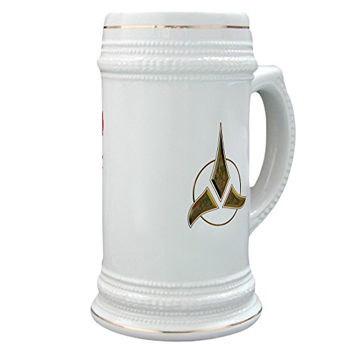 CafePress - Klingon Blood Wine Stein - Beer Stein, 22 oz. Ceramic Beer Mug with Gold Trim