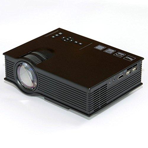 LOUSHI UC40+ HD 1080P Home Cinema Mini Projector HDMI AV USB VGA SD LED Projector (Black) by LOUSHI