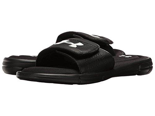 テナント朝食を食べる道徳の(アンダーアーマー) UNDER ARMOUR メンズサンダル?靴 UA Ignite V Slide Black/White 7 (25cm) D - Medium