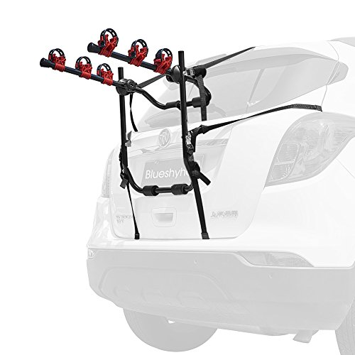 Blueshyhall Bike Carrier Trunk Mount Bike Rack For Suv Car Heavy Duty 3 Bike Carrier Mount