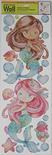 Main Street Wall Creations Peel & Stick Jumbo Stickers - Mermaids