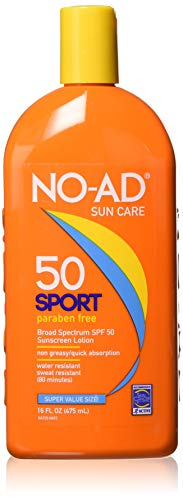 (NO-AD Sport Sunscreen Lotion, SPF 50 16 oz (Pack of)