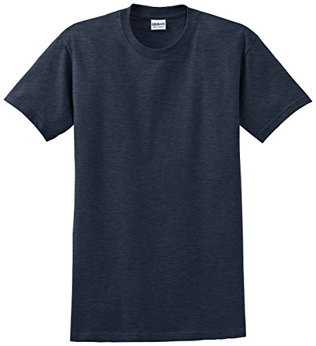 Gildan Ultra Cotton - Ultra Cotton T-Shirt - Heathered Navy 2000 SMALL - Navy Blue Stadium T-shirt