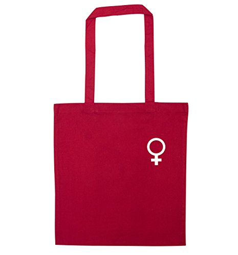 Female symbol bag Creative symbol Female Flox Red pocket tote pocket Pqvpg7