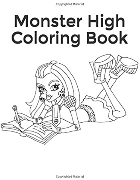 Monster High Coloring Book: Collection Of 75 Monster High Characters: Girl,  Monster: 9781720203469: Amazon.com: Books