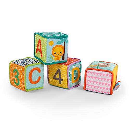 Bright Starts Grab & Stack Soft Blocks Toy, Ages 3 months +