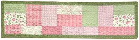 Donna Sharp Valance – Bashful Rose Contemporary Decorative Window Treatment with Patchwork Pattern