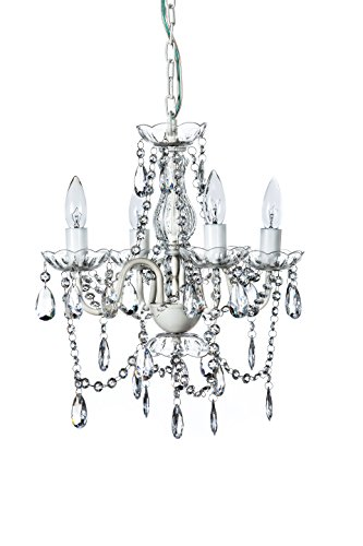 Empire Hanging - The Original Gypsy Color 4 Light Small Crystal Chandelier for H 17.5