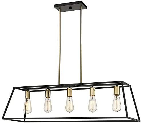 Ove Decors Agnes II Rectangular Vintage Pendant Light