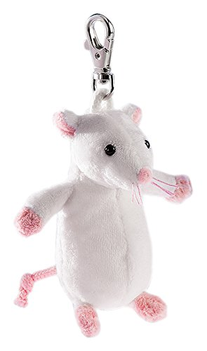 Amazon.com: Rudolph Schaffer Mi Mouse White Keyring Soft Toy ...