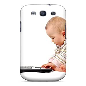 Tpu Phone Case With Fashionable Look For Galaxy S3 - People Children Hacker