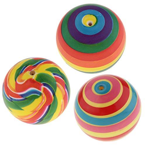 B Baosity 子ども 運動ゲーム スポーツおもちゃ ボールおもちゃ ノービーボール 7.5cm 全3カラー 3個入り - #2