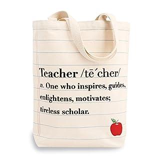 Mud Pie Definition Teacher Canvas Tote