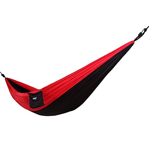 """IMISI Hammock Camping Hammock Parachute Nylon Hammock Portable Ultralight, Quick Dry, Anti Scratch, More Durable Comfortable Support 2 Person with Straps 108""""(L) 55""""(W)"""