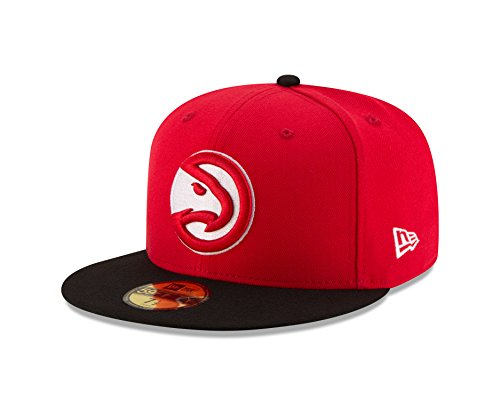 NBA Atlanta Hawks Men's 2-Tone 59FIFTY Fitted Cap, 7.625, Red (Atlanta Hawks Fitted Cap)