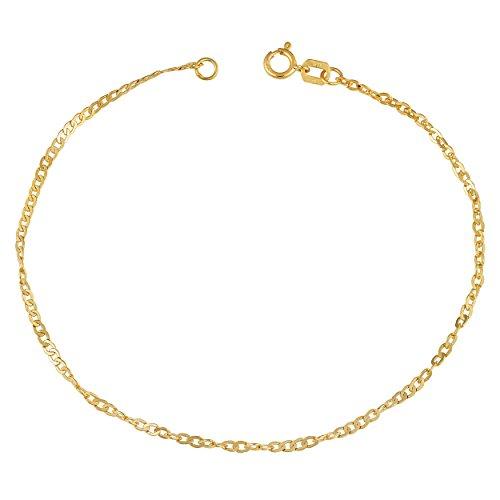 14K Or jaune 1,7mm Maxim ultraléger Bracelet (17,8cm)