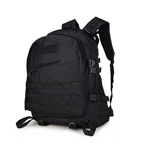 Z&N Backpack Mochila militar camping al aire libre alpinismo deportes hombros mochila de camuflaje mochila táctica militar hombres y mujeres de gran capacidad 40L portátil al aire librecp40L black