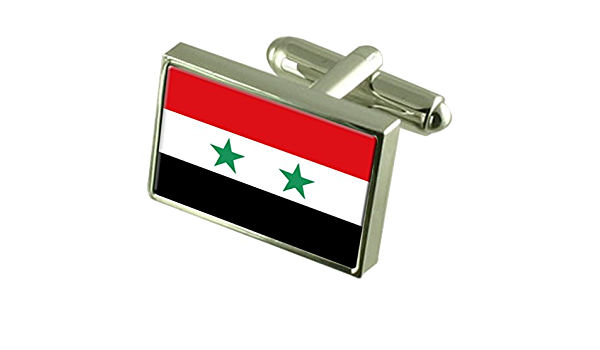 Details about  /SYRIA SYRIAN COAT OF ARMS MEN'S CUFFLINKS GIFT BOX  ENGRAVING