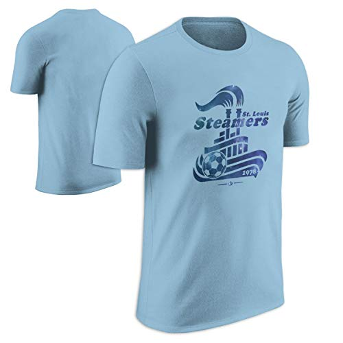 Sky Blue Soccer T-Shirt - Throwbackmax 1978 NASL St. Louis Steamers