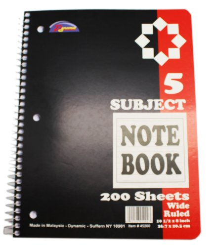 red-dynamic-200-sheet-5-subject-spiral-notebook-wide-ruled