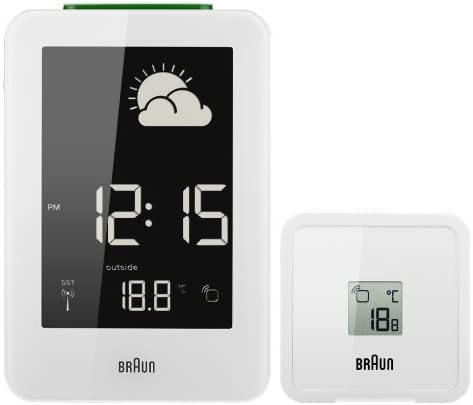 Braun BNC013-RC - Estación meteorológica (Color Blanco, 13 cm, 4.7 ...