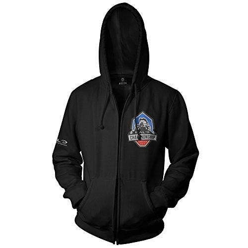 JINX Halo Men's Championship Series Zip-Up Hoodie (Black, - Geeky Specs