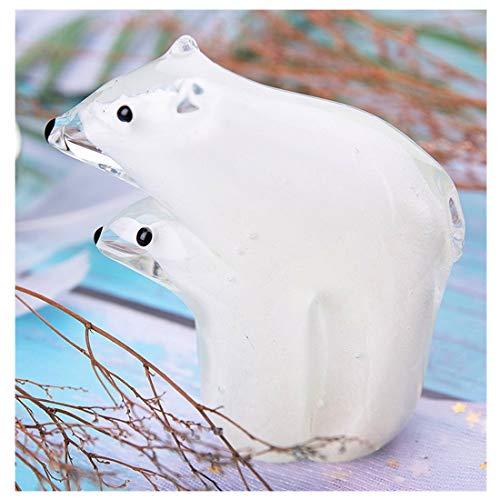 - Qf Handmade Polar Bear Blown Glass Figurine Gift for Christmas, Birthday Home Decor White