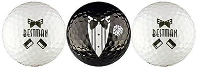 Best Man Wedding Variety Golf Ball Gift Set