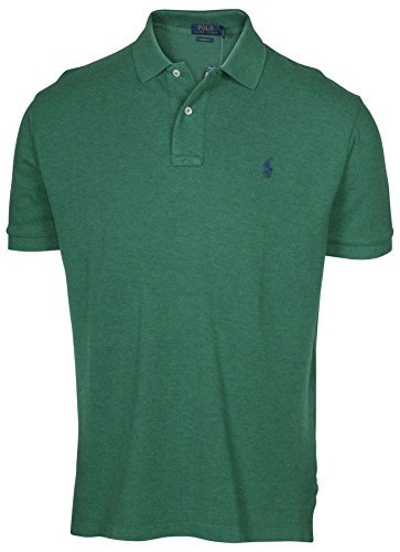 (Polo Ralph Lauren Mens Classic-Fit Mesh Short Sleeve Polo (XX-Large, Green Heather))