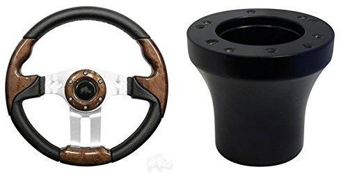 EZGO Aviator 5 Golf Cart Steering Wheel Kit (Woodgrain)