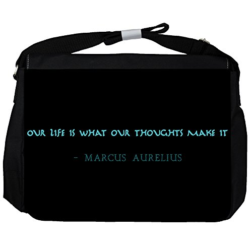 La Nostra Vita È - Marcus Aurelius Unisex Umhängetasche