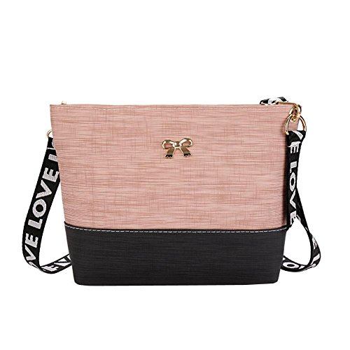 Elegant Bag Shoulder Women with Bowknot Widewing Pink Bag Crossbody Ladies PU UHqdIwI