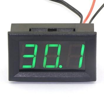 Droking DC - Termómetro digital de 12 V (medidor de temperatura, 50~110 °C, sensor de temperatura integrado, con pantalla LED verde): Amazon.es: Electrónica