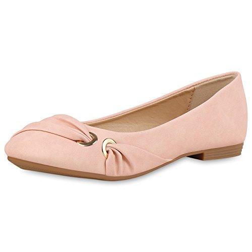 Limitierte Auflage Online-Verkauf Klassische Damen Ballerinas Leder-Optik Flats Freizeit Schuhe 160367 Rosa 36 Scarpe Vita Ausgang Finden Große NztZ01t