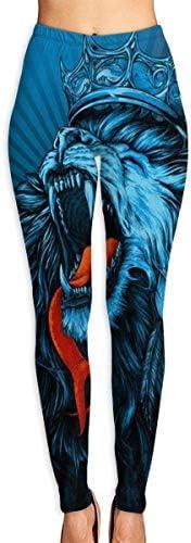 Abusss Sportswear-Strumpfhosen Leggings für Damen, King Lion Women's High Waist Yoga Pants Tummy Control Leggings