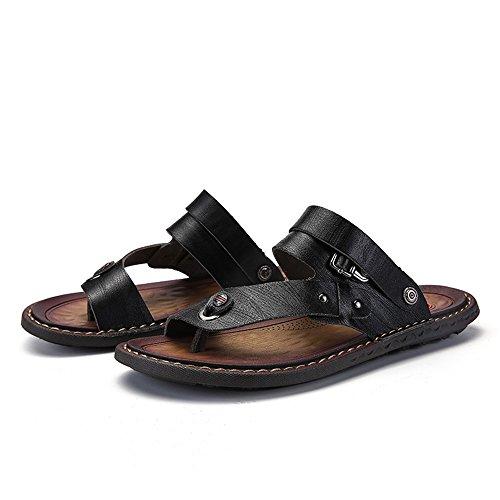 Nero uomo Flat Blu Scarpe On Scarpe Slip 47 EU Color da Sandali Toe Dimensione moda alla 2018 Heel da uomo Open RXqq8