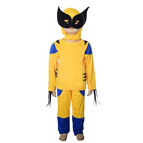 Dressy Daisy Boys' X-men - Wolverine Superhero Fancy Costume Mask Set Halloween Party Size 3T-4T (Xmen Fancy Dress)