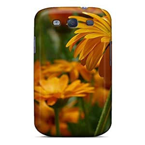 Fashionable Style Case Cover Skin For Galaxy S3- Nature Flowers Bright Gerbera