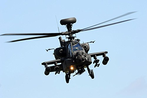 Laminated 36X24 Poster  Army Air Corps Apache Attack Helicopter Mod