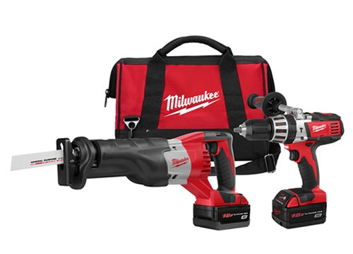 (Milwaukee 2690-22 18-Volt Hammer-Drill and Sawzall Reciprocating Saw Combo Kit)