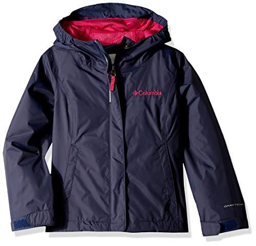 Columbia Girls' Youth Waterproof & Breathable Arcadia Jacket, Nocturnal/Haute Pink, Medium Columbia Waterproof Breathable Storm Pant