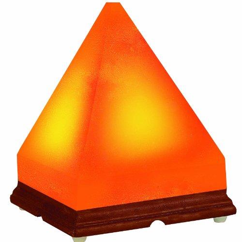 Himalayan Ionic Hand Carved Natural Salt Pyramid Lamp by WBM LLC