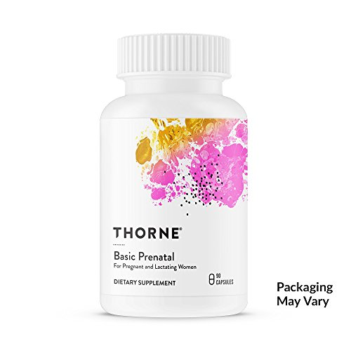 Thorne Research - Basic Prenatal - Folate Multivitamin for Pregnant and Lactating Women - 90 Capsules (Iodine Prenatal Vitamins)