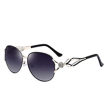 Xinke Gafas de Sol polarizadas para Mujer Diamond Fashion Box Gafas de Sol UV400 con Recubrimiento