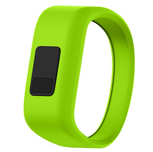 ANCOOL Compatible Garmin Vivofit JR Bands Replacement Silicone Sports Wristbands Compatible Garmin Vivofit JR/Vivofit 3(NOT Including Tracker) - Large Green