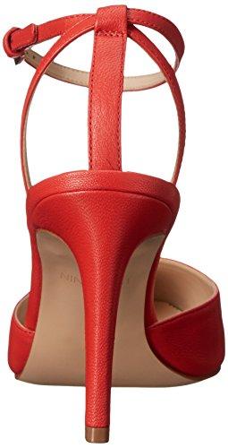 Nine West Honsity cuero bomba de vestir Leather Red