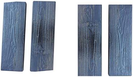 B Blesiya 4ピース/個コンクリート金型ステッピング木目石石の形庭の装飾ステッピングストーンパスパティオ新しい
